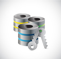 server key security illustration design