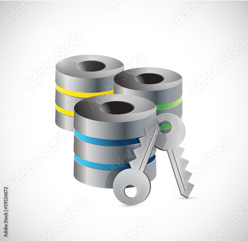 server key security illustration design