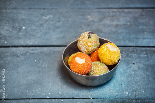Indian sweets ladu
