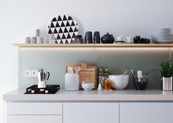 Küchenszene - detailed view of a kitchen