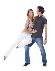 Happy Couple Having Fun
