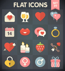 Valentine's Day: Flat Icons Set 20