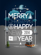 Merry Christmas & Happy New Year design