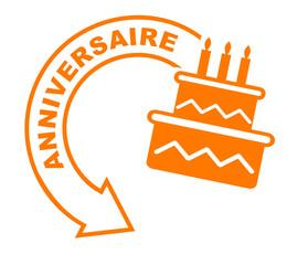 anniversaire flèche orange