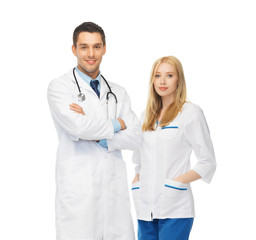 two young attractive doctors