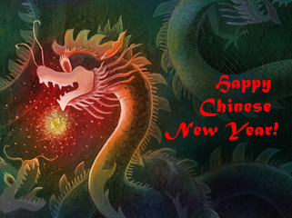 Happy Chinese New Year Dragon