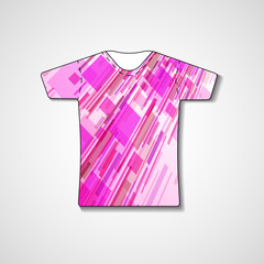 Abstract illustration on t-shirt, template editable.