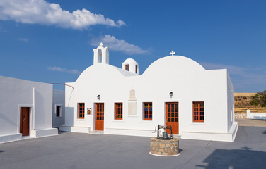 Agioi Anargiroi church, Milos island, Cyclades, Greece