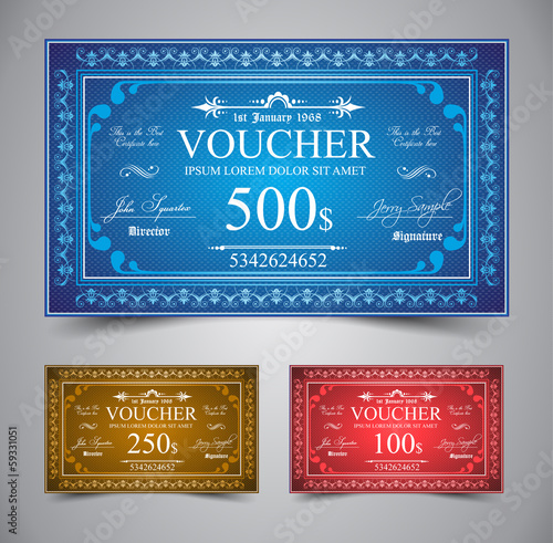Elegant Voucher Design