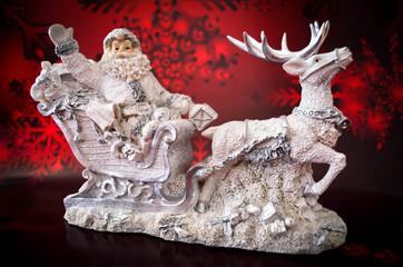 Weihnachtsmann Rentier Schlitten