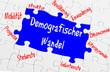 Konzept Alt werden Demenz und Demografie