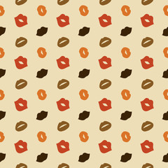 Lips Vector Seamless Pattern