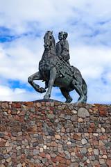 Equestrian statue of Empress Elizabeth Petrovna Baltiysk, Russia