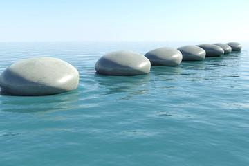 Zen rock pool