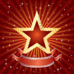 golden star red burst