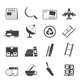 Silhouette Business and industry icons - Vector Icon set 2