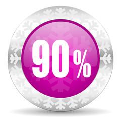 90 percent christmas icon