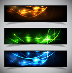 Bright abstract banners collection.