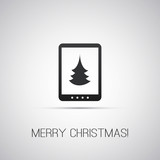 Christmas Card with Tablet, E-Book Reader