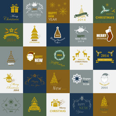 Christmas Backgrounds Set - Vector Illustration