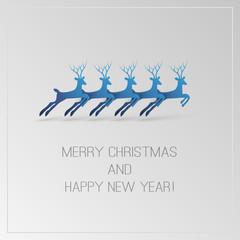Christmas Card with Deers
