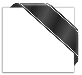 Trauerkarte Schleife schwarz  #131211-svg01