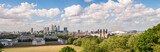 Fototapeta Panoramic view of eastern London