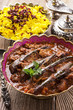 khoresht-e badenjan - persian lamb stew with eggplant
