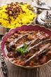 khoresht-e badenjan - persian lamb stew with eggplant