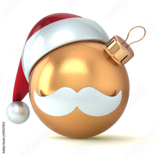 Christmas ball Happy New Year bauble gold ornament Santa