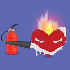 extinguisher and heart