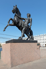 Tamer of horses, Saint-Petersburg, Russia