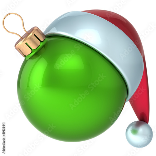 Christmas ball Happy New Year bauble decoration green ornament