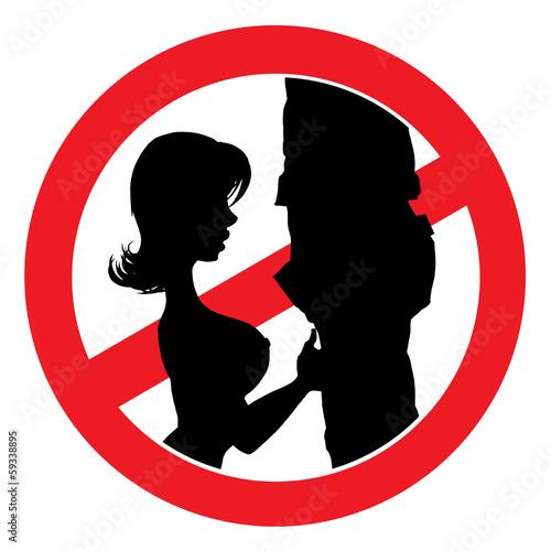 No sex in public sign