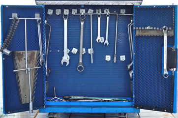 various engineer tools and equipment for work.