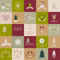 Christmas Backgrounds Set - Vector Illustration