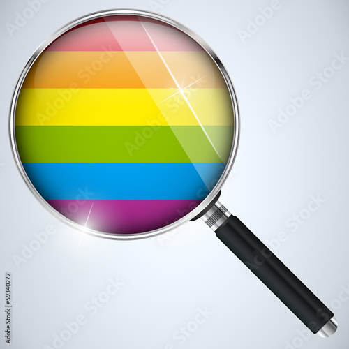 Gay Flag Circle Striped Button