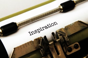Inspiration text on typewriter