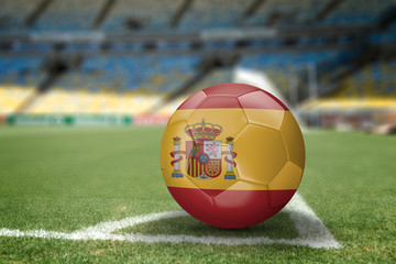 Spanish soccer ball on the soccer field