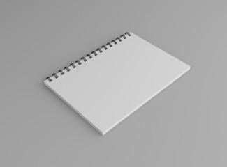 Notizbuch Cover Hochformat Hintergrund grau