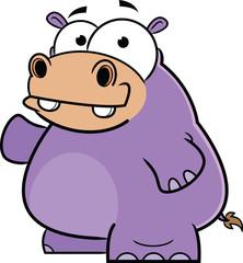 Happy Hippo Cartoon