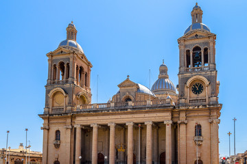 Paola parish church dedicated to Christ the King in Malta