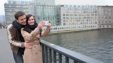 Tourists on sightseeing tour taking photos