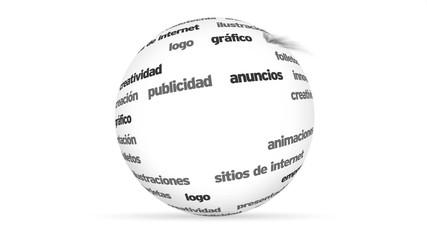 Design 3d Word Sphere (In Spanish)