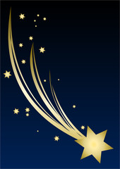 Christmas Star blue sky background