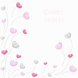 Cute hearts background 2