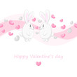 Cute hearts and rabbits 2