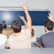 Professor waehlt einen Studenten aus
