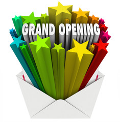 Grand Opening Announcement Letter Envelope Flyer