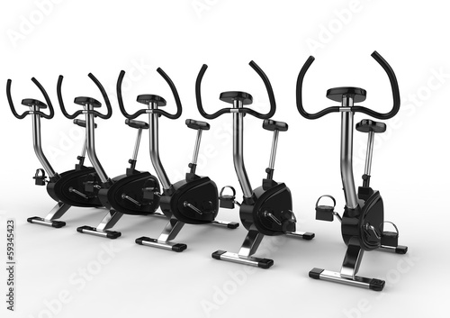 Stationary Bikes Angle Shot